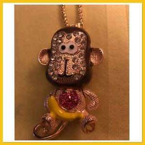 Adorable Monkey with Banana Necklace NEW🐒🍌🐒